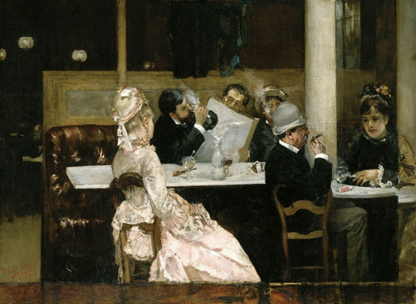 Henri Gervex - Cafe Scene in Paris 1877